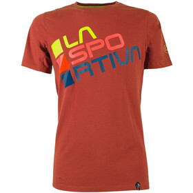 La Sportiva Square T-Shirt Men Brick/Sulphur